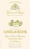 2015 Chateau Cantelaudette, AOC Graves de Vayres,  Blanc Prestige, Bordeaux
