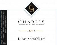 2013 Domaine des Hates, AOC Chablis, France