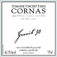 """2015 Domaine Vincent Paris, """"Granit 30,"""" AOC Cornas."""