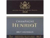 "NV Champagne Henriot, ""Brut Souverain"""