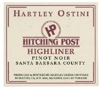 "2013 Hitching Post, Pinot Noir, ""Highliner, AVA Santa Barbara County, CA"