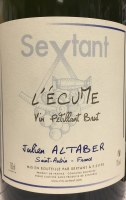 """NV Sextant by Julien Altaber, """"L'Ecume."""" Vin Petillant Brut.  Saint-Aubin, France"""