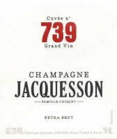 NV Champagne Jacquesson, Cuvee 739, Extra Brut, AOC Champagne 1.5L