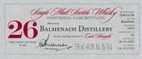 BALMENACH 26YR  750