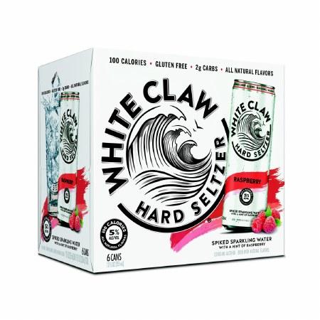 WHITE CLAW RASP 6PK