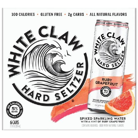 WHITE CLAW REDGRP FRT 6PK CANS