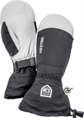 2021 Hestra Army Leather Heli Mitten Black 6