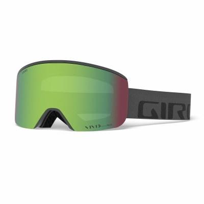 2021 Giro Axis Grey Wordmark with Vivid Emerald Lens