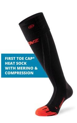 2021 Lenz 6.0 Compression Heat Sock Only (no kit) Black/Red M