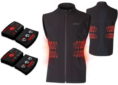 2021 Lenz Men's Heat Vest Kit with Batteries Black/Red Medium