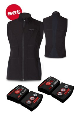 2021 Lenz Women's Heat Vest Kit with Batteries Black/Red Small