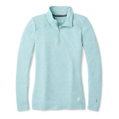 2021 Smartwool Women's Merino 250 1/4 Zip Medium Gray Heather Extra Small