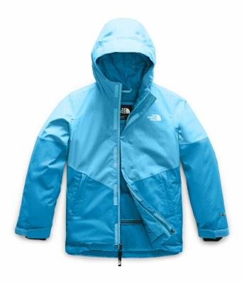 2020 TNF Girl's Brianna Insulated Jacket Turquoise Blue Medium