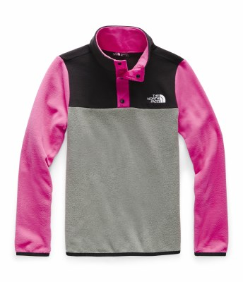 2020 TNF Girl's Glacier 1/4 Zip Snap Mr. Pink Large