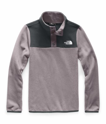 2020 TNF Girl's Glacier 1/4 Zip Snap Ashen Purple Large
