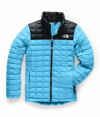 2020 TNF Girl's Thermoball ECO Full Zip Jkt Turquoise Blue Medium
