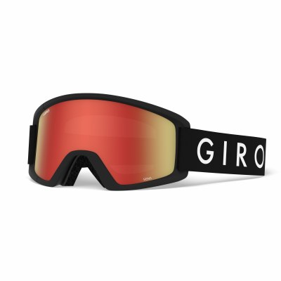 2021 Giro Semi Black Core, Amber Scarlett & Yellow Lenses