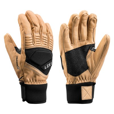 2021 Leki Copper S Glove Tan/Black Medium