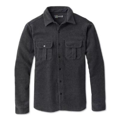 2021 Smartwool Men's Anchor Line Shirt Jacket Charcoal Heather Medium