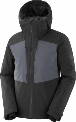 2021 Salomon Mens Highland Jacket Black/Ebony Medium