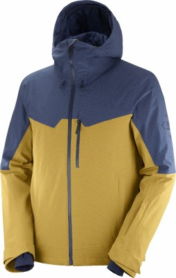 2021 Salomon Mens Untracked Jacket Cumin/Dark Denim/Heather Small