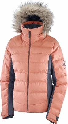 2021 Salomon Womens Stormcozy Jacket Brick Dust/Heather Large
