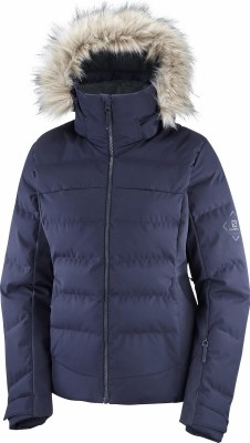 2021 Salomon Womens Stormcozy Jacket Night Sky Small