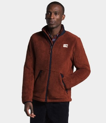 2021 TNF Campshire Men's Full Zip Brandy Brown/Aviator Navy Medium