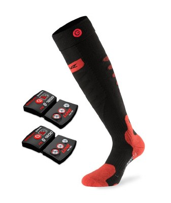 2022 Lenz 5.0 ToeCap Heat Sock Set Black/Red Small