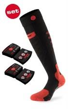 2021 Lenz 5.0 ToeCap Heat Sock Set Black/Red Medium