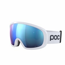 2021 POC Fovea Mid Clarity Comp Hydrogen White w/ Spektris Blue Lens