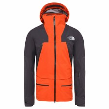 2020 TNF Men's Purist Jacket Papaya Orange/Weathered Black Large