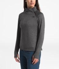2020 TNF Women's Canyonland 1/4 Zip Dark Grey Heather Small