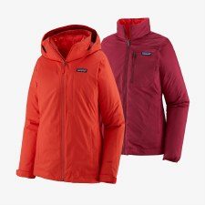 2021 Patagonia Women's 3-in-1 Snowbelle Jacket Catalan Coral Small