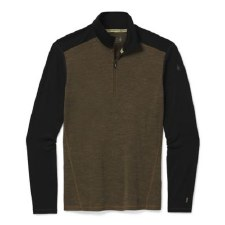 2021 Smartwool Men's Merimo 250 1/4 Zip Neck Military Olive Heather/Black Large