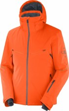 2021 Salomon Mens Brilliant Jacket Red Orange/Ebony Large