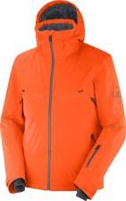 2021 Salomon Mens Brilliant Jacket Red Orange/Ebony Medium