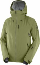 2021 Salomon Mens Outlaw 3 Layer Shell Jacket Matini Olive Medium