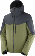 2021 Salomon Mens Untracked Jacket Martini Olive/Ebony/Heather Large