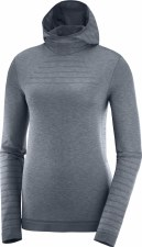 2021 Salomon Outspeed Wool LS Hoodie Ebony/Heather Small