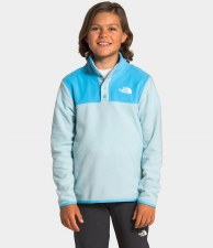 2021 TNF Glacier Youth Quarter-Snap Pullover Starlight Blue Small