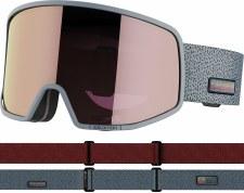 2022 Salomon Lo Fi Sigma Goggles Grey w/ Simga Silver Pink Lens