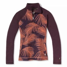 2022 Smartwool Womens Merino 250 1/4 Zip Sunset Coral Palm Small