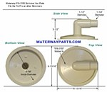 WATERWAY VACUUM PLATE WITH 90 ELBOW