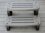 WATERWAY SPA STEP CHARCOAL