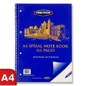 A4 160pg Spiral Note Book