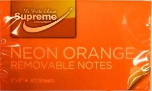 125x75 Orange Neon notes