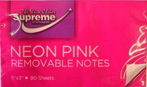 125x75 Pink Neon Notes