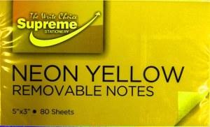 125x75 Yellow Neon Notes