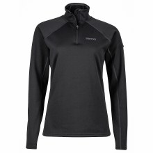 Wmn Stretch Fleece Zip Black S